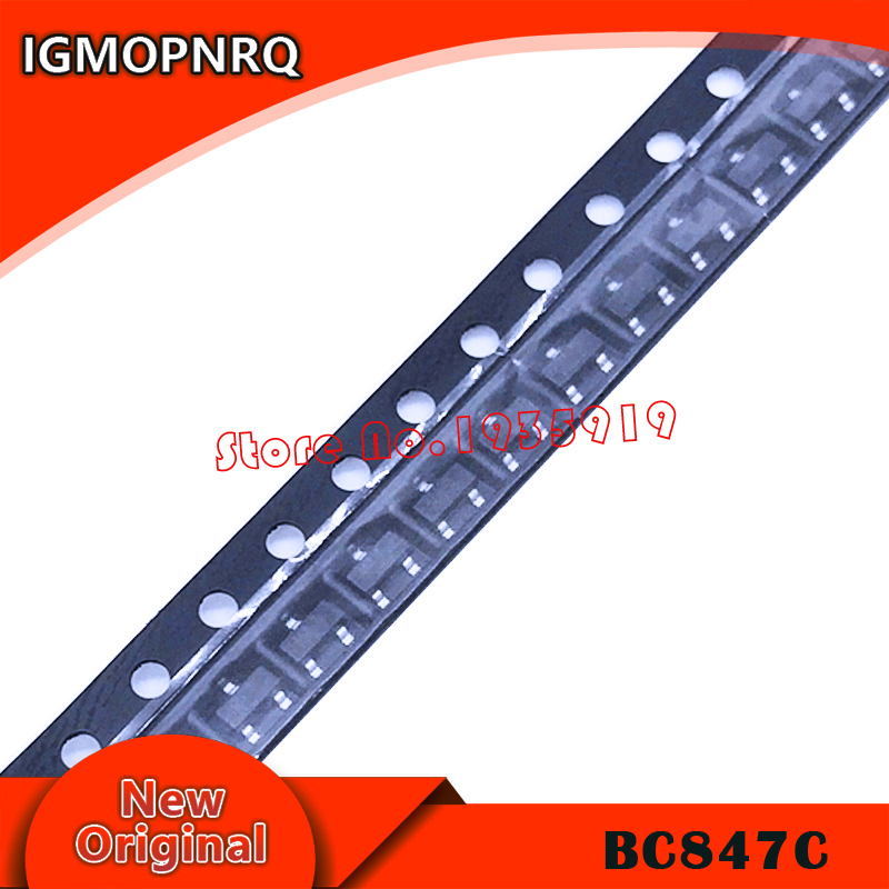 100PCS BC847C SOT23 BC847 847C SOT SMD SOT-23 1G New And Original