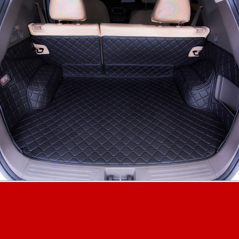 lsrtw2017 for hyundai tucson leather car trunk mat cargo liner 2010 2011 2012 2013 2014 2015 ix35 luggage boot rug carpet