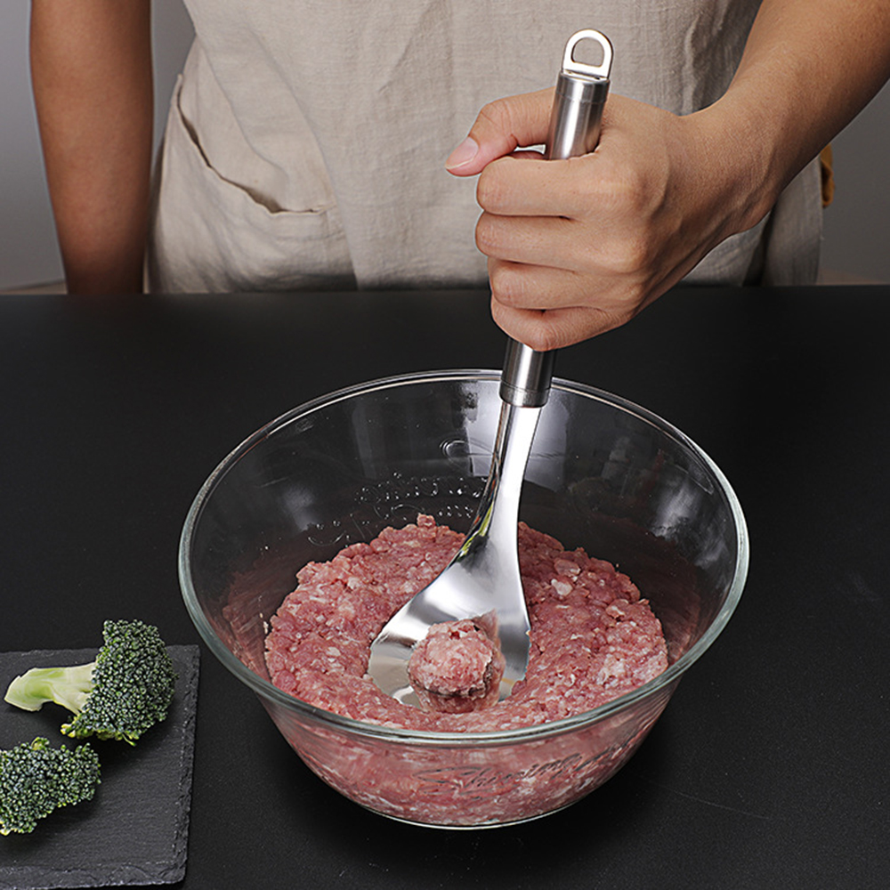 Non Stick Creative Meatball Meat Baller Spoon Maker with Leaked Elliptical Hole Meat Ball Mold Kitchen Gadget Meat Tool