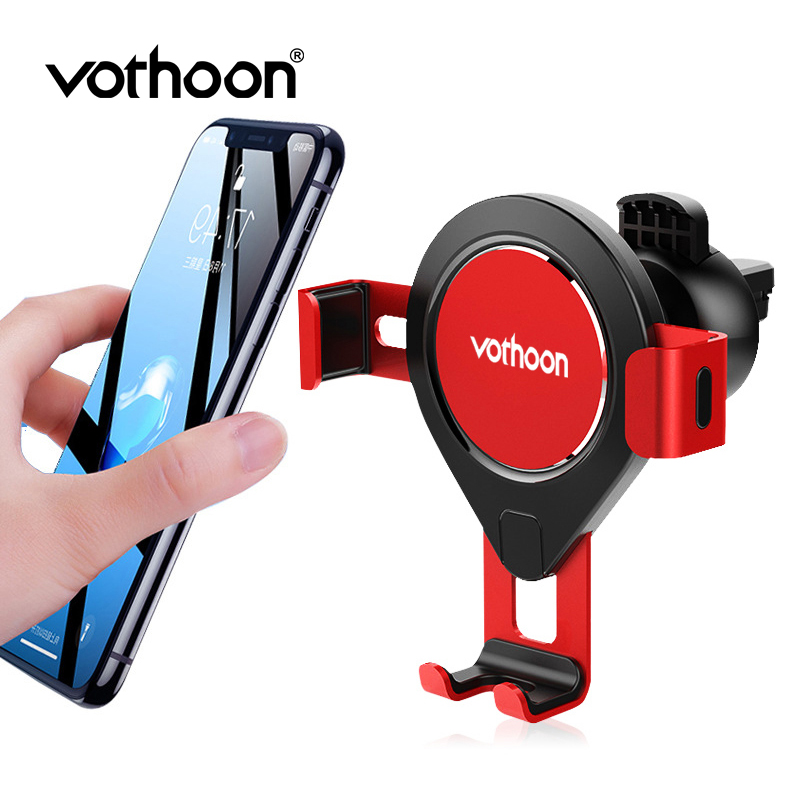 Vothoon Gravity Car Phone Holder For IPhone 11 Pro Xs Samsung S10 S9 In Car Air Vent Mount Mobile Phone Holder Stand