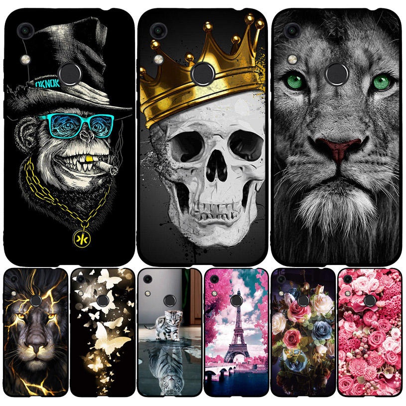 For Huawei Honor 8A Case Silicone Soft TPU Cute Painted Back Cover Phone Case For Huawei Honor 8A JAT-LX1 8 A Honor8A Case Cover