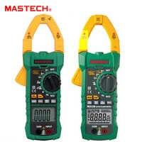 MASTECH cc courant alternatif 1000A pince numérique compteur véritable RMS ampèremètre NCV tension Ohm testeur multimètre avec USB MS2115A 2115B