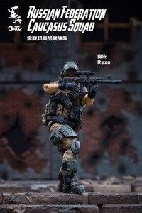 Image 4 - JOYTOY 1/18 figurka żołnierzy (3 sztuk/partia) federacja rosyjska kaukaz model doll darmowa wysyłka