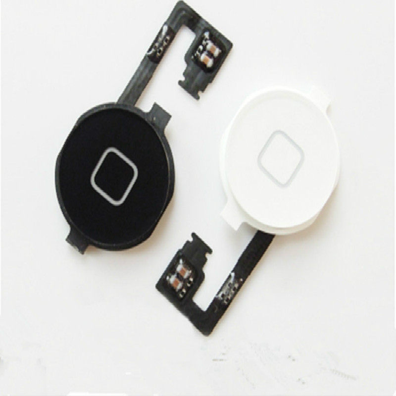 1Pcs  Original New Home Button Assembly Flex Cable Sensor Ribbon Complete Parts For IPhone 4S Compatible: For IPhone 4S