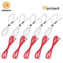 10 unidades/pacote hotend 24v 40w aquecedor vermelho cartucho extrusora aquecedor + 100k ntc 3950k termistor para ender 3 pro impressora 3d acessório