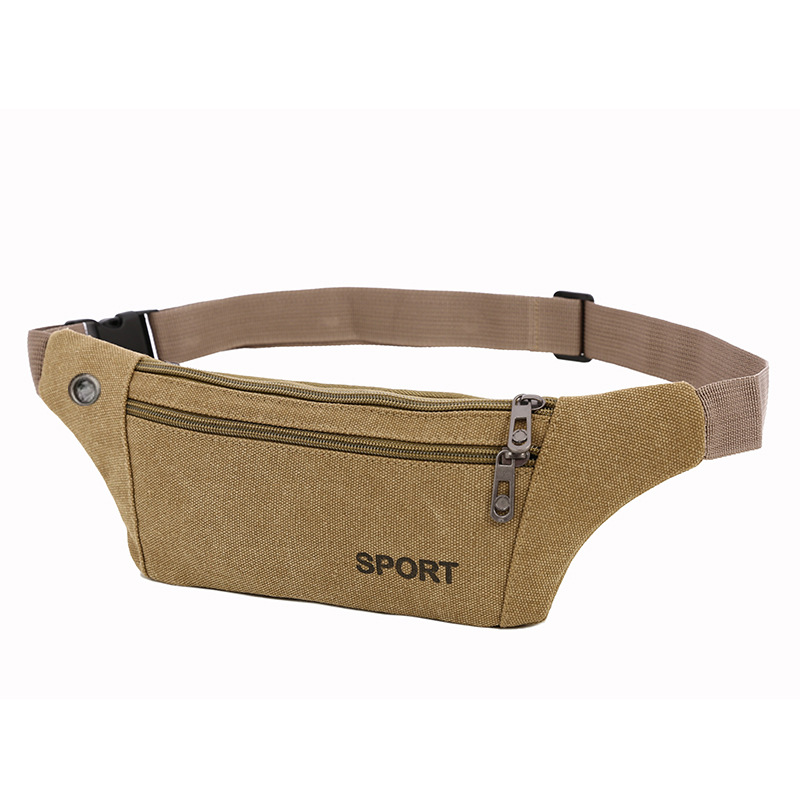 Ultra-Thin Multi-functional Waist Pack Men Sports Outdoor Anti-theft Pocket Women's Canvas Body Hugging Hidden Belt
