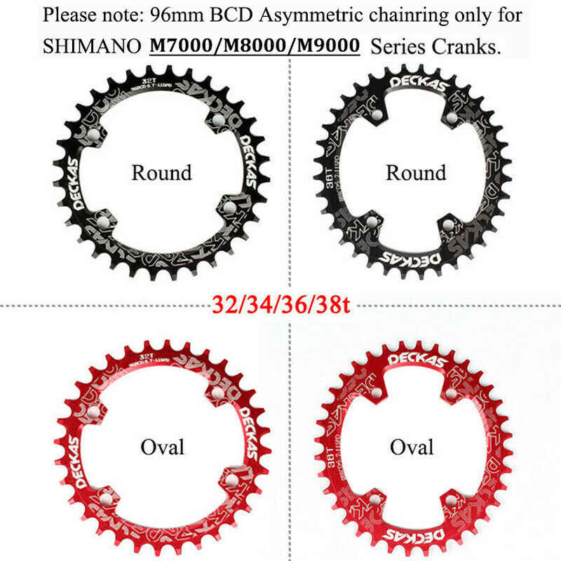 32-38t 96BCD-S Narrow Wide Round Oval Chainring MTB Road Bike Chainset Crankset
