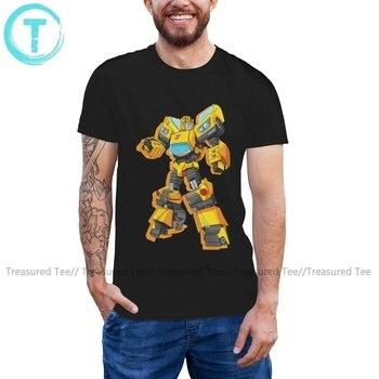 Transformer T Shirt Transformers Bumblebee Standing Pose T-Shirt Mens Short Sleeve Tee Shirt Funny Big Tshirt made in 87 mens t shirt 13 colours 29th birthday present gift 1987 print t shirt mens short sleeve hot tops tshirt