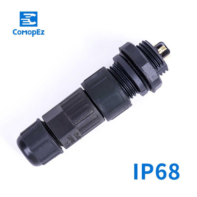 IP68 موصل مقاوم للمياه M19 2 3 4 5 6 7 8 دبوس الكهربائية محطة محول سلك موصل اللحيم دبوس موصل ل مصباح ليد