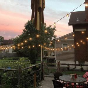 Image 4 - 50 unids/lote 25 ft G40 luces de cadena de globo con bombillas UL listadas para fiesta boda jardín patio pérgola