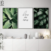 Scandinavian Botanical Green Leaves Poster Canvas Painting Wall Art Print Quotes Wall Picture for Living Room Nordic Home Decor botanical print shirt