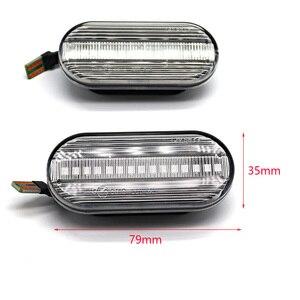 Image 2 - עבור סיאט איביזה 6L קורדובה טולדו ליאון 1M דינמי מהבהב הפעל אות אור מהדר מחוון הנורה ענבר אוטומטי