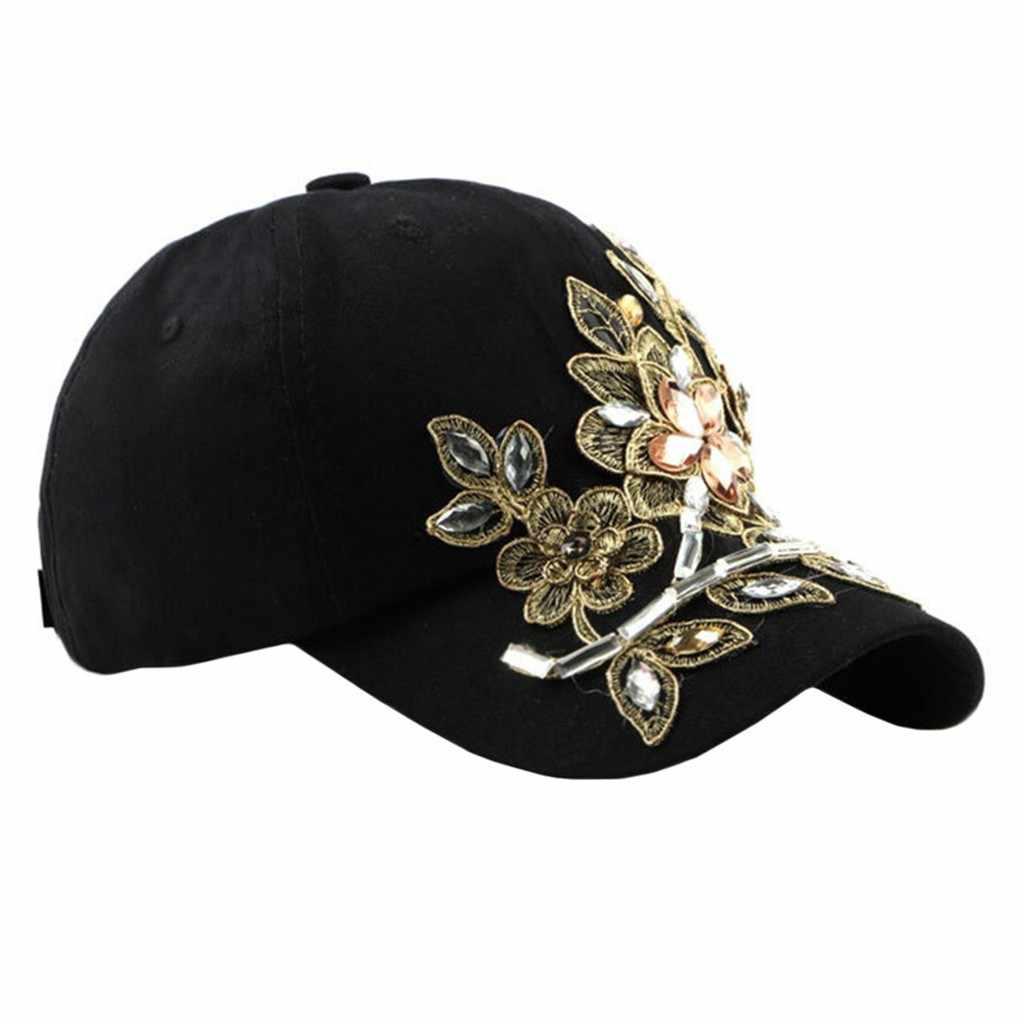 여자 남자 조절 모자 3D 꽃 수 놓은 야구 모자 남여 새로운 패션 한국어 힙합 들어 갔어 모자 Dropshipping