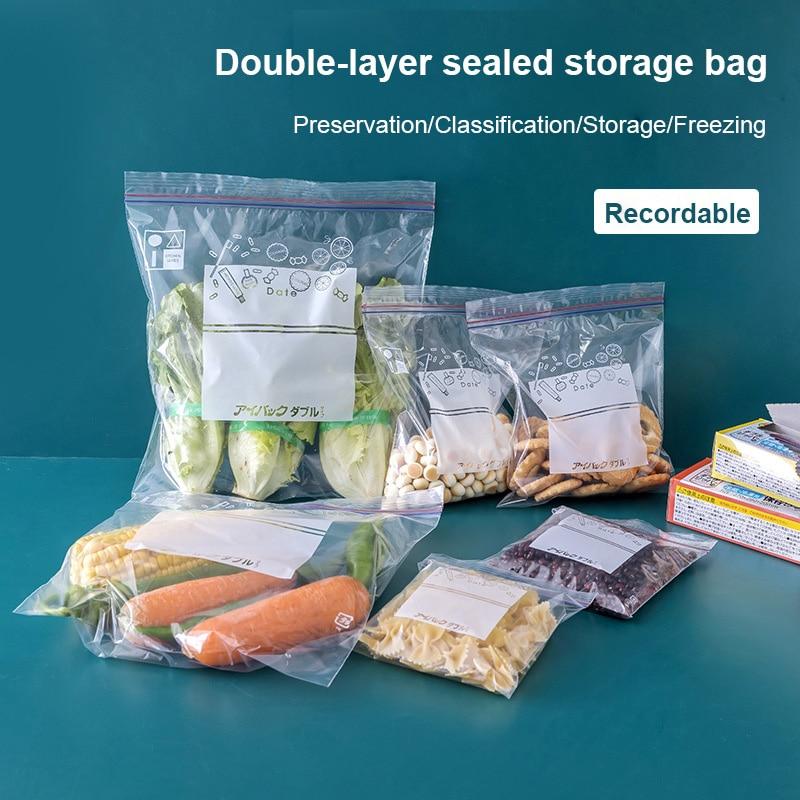 Sealed Bag Fresh Kitchen Keeping Food Packaging Bag Sealing Household Plastic Packaging Thickened Bag Refrigerator Storage Bag