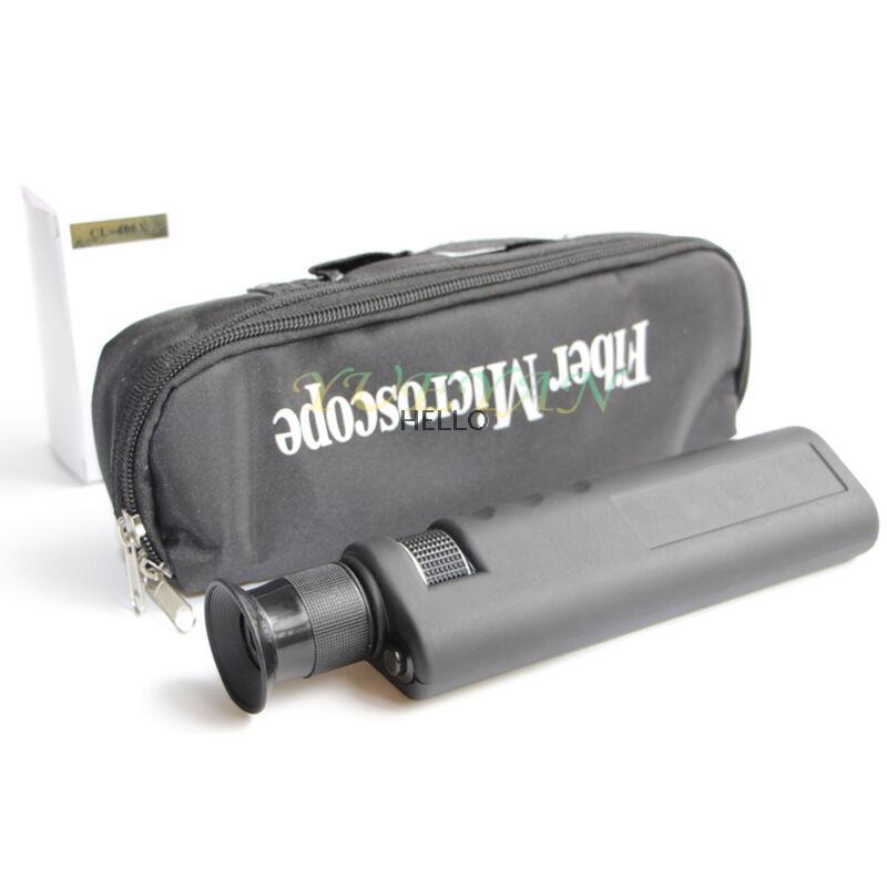 400x Fiber Optical Microscope Optical Inspection Scope 1.25/2.5mm Coaxial LED