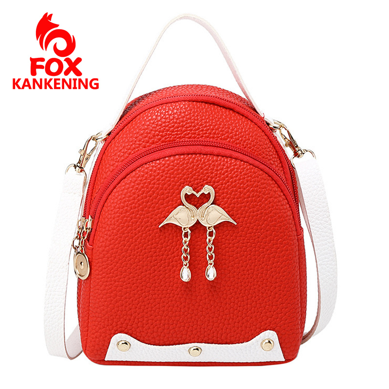 Mini Backpack 2019 New Fashion Swan Charm Women For Bag Creative Casual Variety Small Schoolbag image