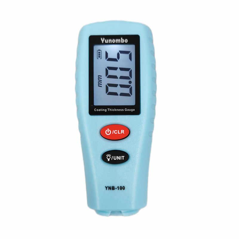 Yunombo podświetlenie cyfrowe folii LCD miernik grubości lakier samochodowy tester grubości miernik grubości lakieru YNB-100