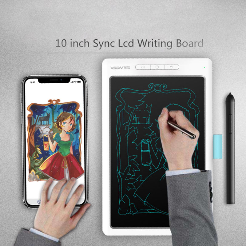 10 Inch Portable LCD Writing Tablet Digital Electronic Drawing Handwriting Bluetooth Connecting Mobile Phone Ultra-thin Board