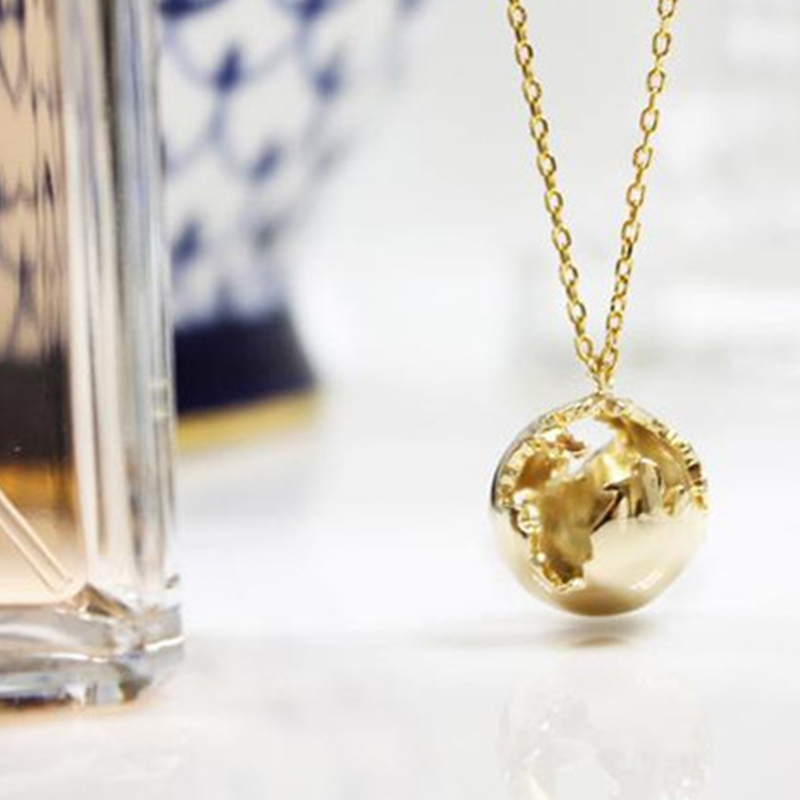 Planet Earth Necklace Pendant For