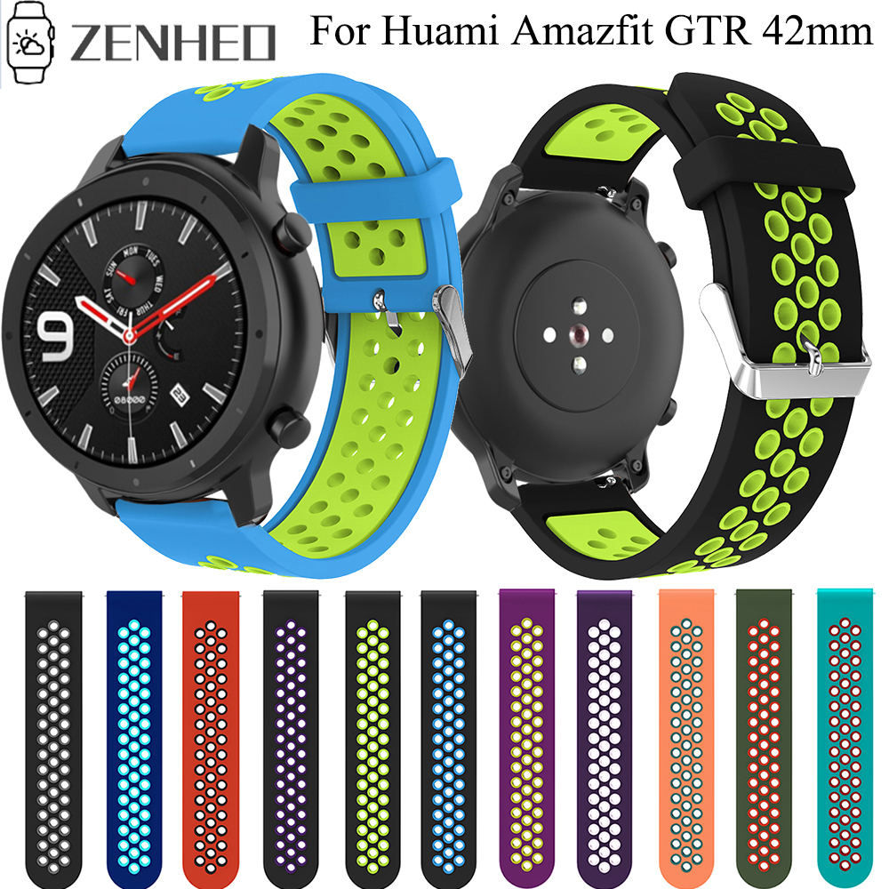 20mm Strap Sport Watchband For Xiaomi Huami Amazfit GTR 42mm Watch Band Belt Wristband For Huami Amazfit GTS Bands