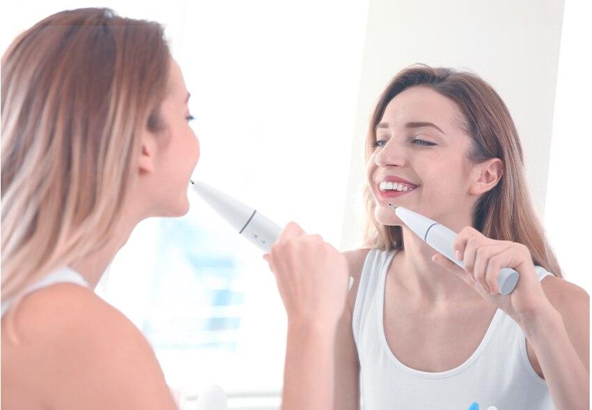 Беспроводной стоматологический безводный умный ультразвуковой скейлер + 3 ультразвуковые Выделенные титановые средства для удаления зубн...