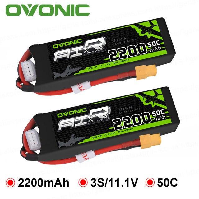 Batterie GENS ACE OVONIC, Lipo 3S 2200mAh 11.1V, 1 pièce, 50C avec connecteur XT60 Deans, pour voiture RC Drone, hélicoptère, bateau