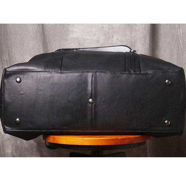 AETOO Leather handbag men's large-capacity travel bag vegetable tanned head layer cowhide shoulder diagonal bag light travel lug 4