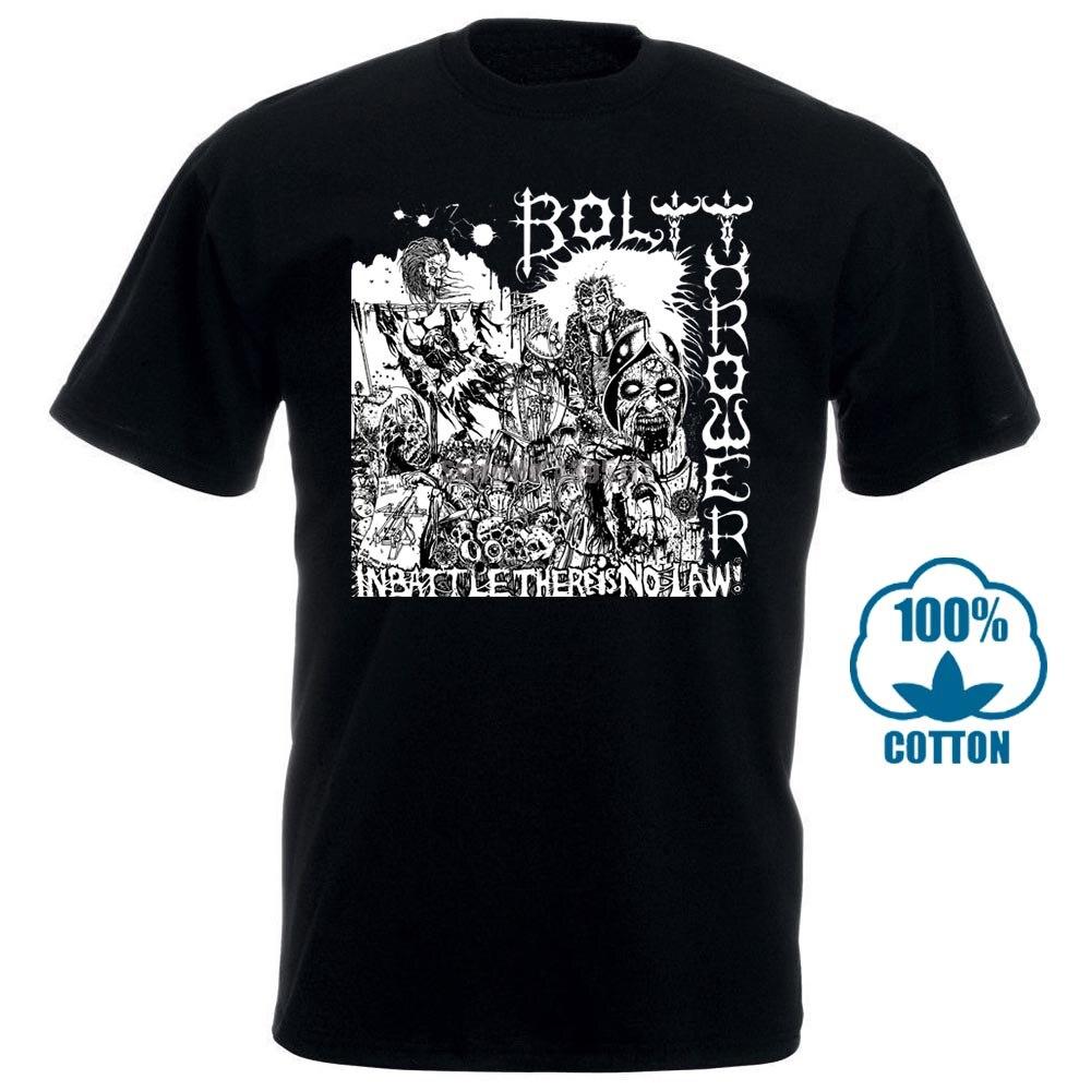 Cotton Bolt Thrower T Shirt Mens Womens T Shirt Death Metal T Shirt Bolt Thrower T Shirt Short Sleeve 010841