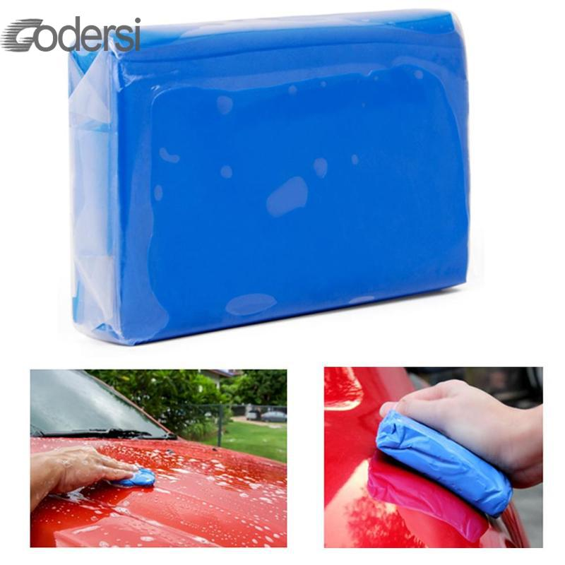 100g Car Wash Clay Car Cleaning Detailing Blue Magic Clay Auto Car Cleaner Clay Bar Mini Handheld Car Washer Car Detailing image