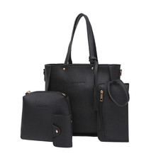 4pcs Woman Bag Set Fashion Female Purse and Handbag Four-Piece Shoulder Bag Tote Messenger Purse Bag Drop Shipping 9.9 цены онлайн