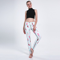 Arrival Women Leggings Sexy Girl With Roses Printed Leggings Gothic Fitness Workout Leggings Mid Waist Pants S 4XL
