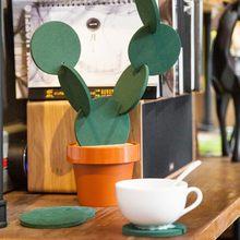 V 1 набор coaster столовые коврики кактус diy нескользящий теплоизоляционный
