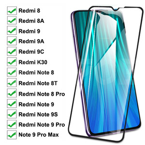 9D Tempered Glass For Xiaomi Redmi 8 8A 9 9A 9C K30 Screen Protector Redmi Note 9S 8 8T 9 Pro Max Safety Protective Glass Film