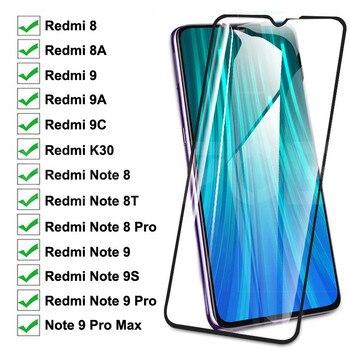 9D vidrio templado para Xiaomi Redmi 8 8A 9 9A 9C K30 Protector de pantalla Redmi Note 9S 8 8T 9 Pro Max película protectora de vidrio de seguridad