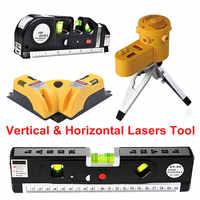 Multifunktions 4 Typ Kreuz Linie Werkzeug Gerät LED Laser Ebene Vertikale Horizontale Ausrüstung Messung Werkzeug