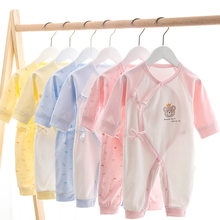 Oblique Placket Newborn Baby Clothing Spring New Toddler Girls Rompers Cartoon Toddler Boys Clothes Baby Born Baby Jumpsuit