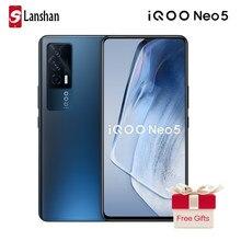 Original vivo iqoo neo5 5g celular triplo câmera qualcomm snapdragon 870 amoled 4400mah bateria 66w flashcharge celular