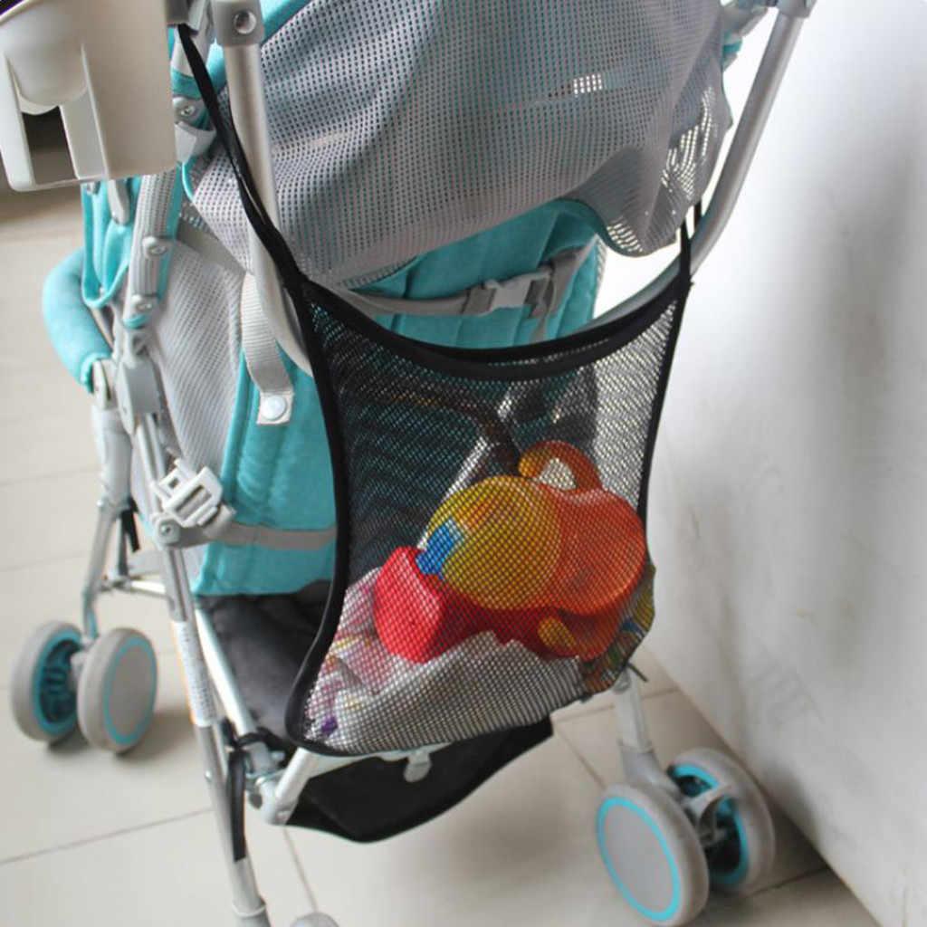 ตาข่ายกระเป๋าแบบพกพาเก็บ Organizer กระเป๋าสำหรับทารก Carriage ตาข่ายกระเป๋ารถกลับที่นั่งแขวนเก็บสุทธิกระเป๋า