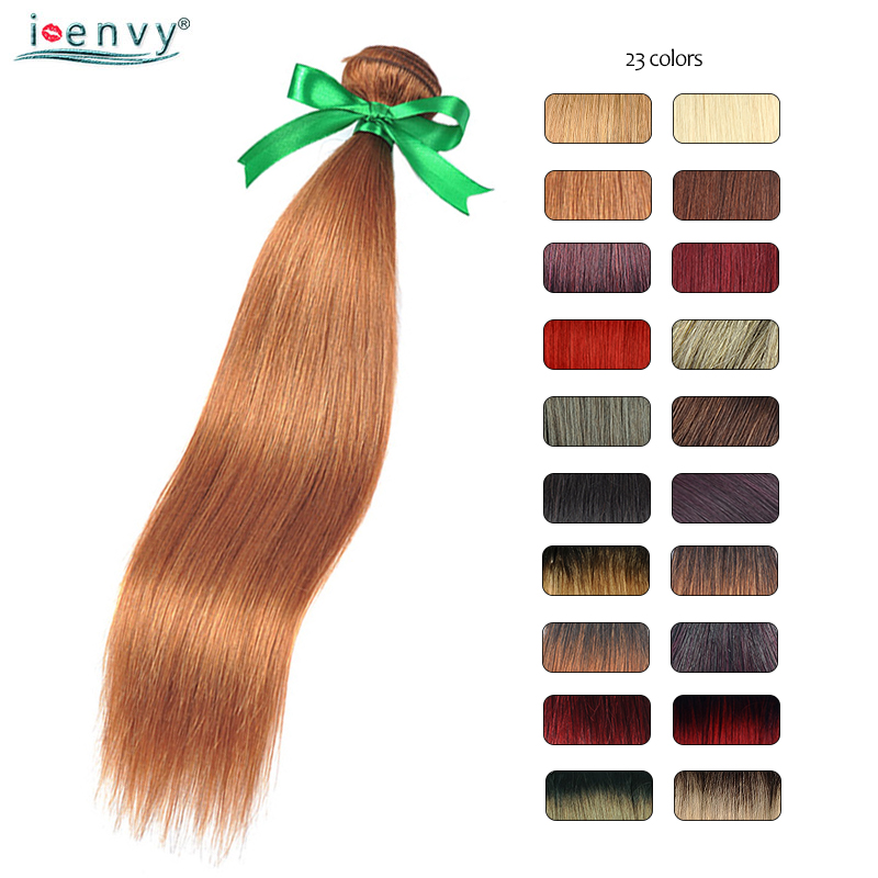 Blonde-Bundles Burgundy 99J Black Colored Straight Honey 100%Human-Hair Brazilian Ombre title=