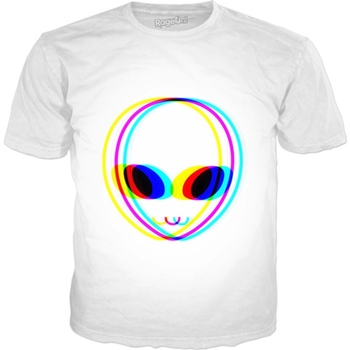 Camiseta de Alien Vision Hip Hop Harajuku, camiseta de Hip Hop impresa...