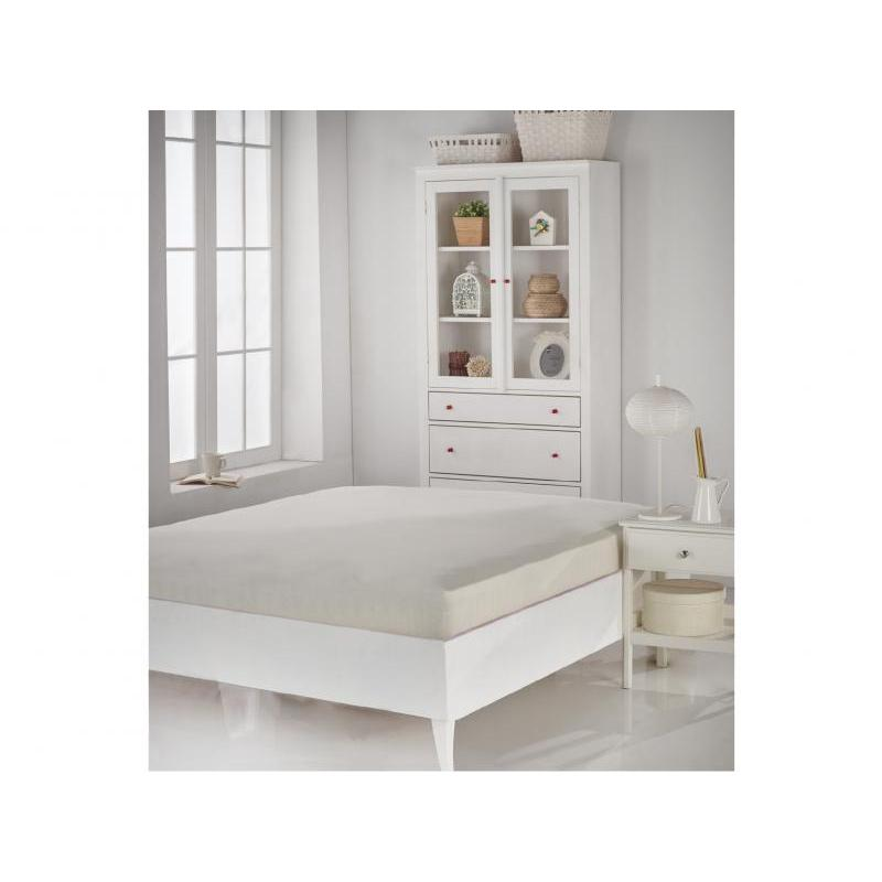 Bed Sheet with elastic band KARNA, ACELYA, 160*200 cm, cream