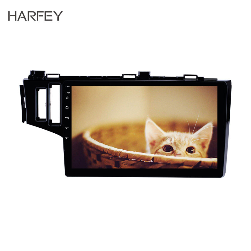 Harfey Car Multimedia Player <font><b>Android</b></font> 8.1 Car Stereo Player With GPS WIFI Bluetooth For 2013 2014 <font><b>2015</b></font> <font><b>Honda</b></font> <font><b>Fit</b></font> LHD Support OBD2 image