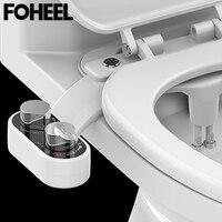 FOHEEL Non Electric Toilet Seat Bidet Hot And Cold Water Bathroom Muslim Shattaf Washing Bidet Sprayer Self Cleaning Nozzle