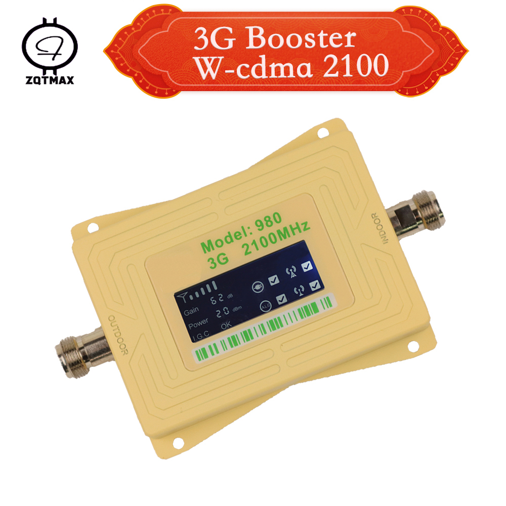 ZQTMAX 3g Repeater 2100mhz Cell Phones Signal Booster UMTS Cellular Signal Amplifier B1 HSPA WCDMA