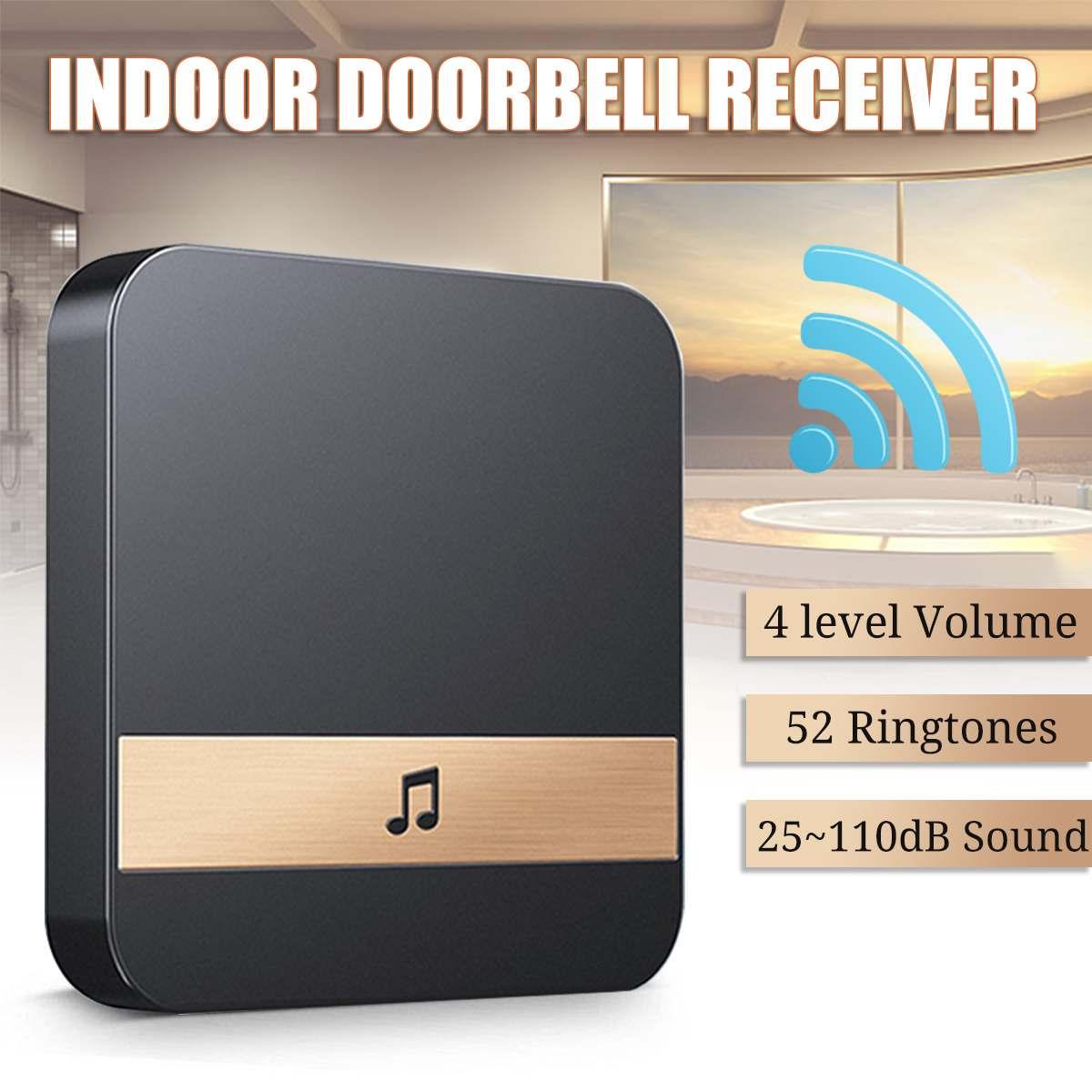 433MHz Wireless Wifi Smart Video Doorbell Chime Music Receiver Home Security Indoor Intercom Door Bell Receiver 25-110dB