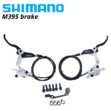 Shimano M395 M396 brake Hydraulic Disc Brakes Clamp Band Set Front and Rear BR-BL-M395 BL-M396 M395 brake black and white pair