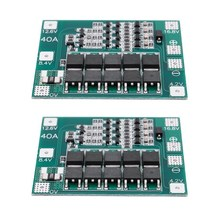 2 Pcs 4S 16.8V 18650 Lithium Battery Charger Perlindungan Papan PCB BMS 40A Modul(China)