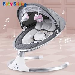Bébé brillant intelligent électrique bébé berceau berceau chaise berçante bébé videur nouveau-né calme chaise Bluetooth avec ceinture télécommande