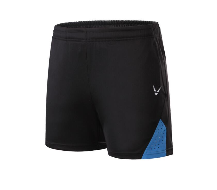 Новые шорты для бадминтона для мужчин и женщин, спортивные теннисные шорты, одежда для настольного тенниса, быстросохнущая одежда для бадминтона, спортивные шорты XS-4XL - Цвет: black blue