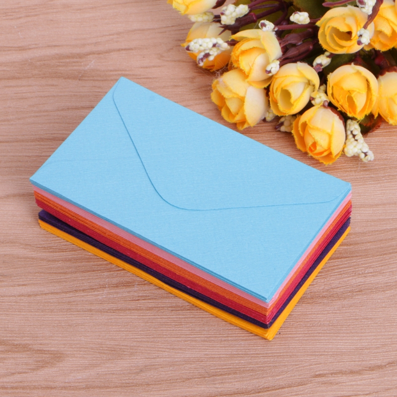 50Pcs Retro Blank Mini Paper Envelopes Wedding Party Invitation Greeting Cards Gift X6HB